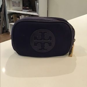 Tory Burch purple small cosmetic case